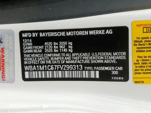 WBA1M1C57FVZ99313