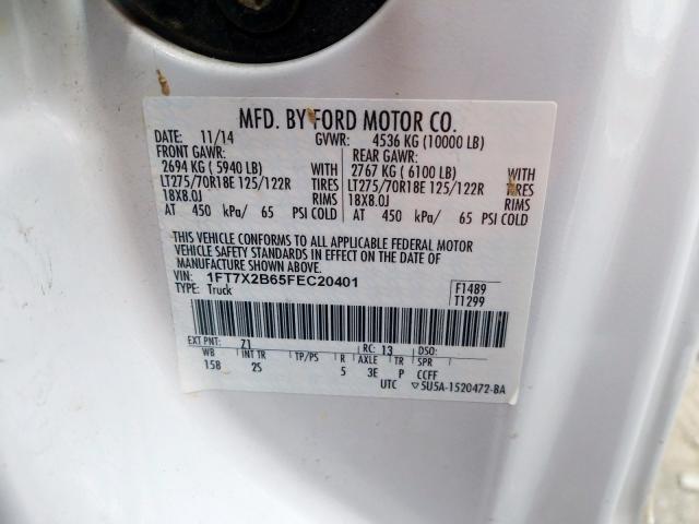 2015 Ford F250   Vin: 1FT7X2B65FEC20401