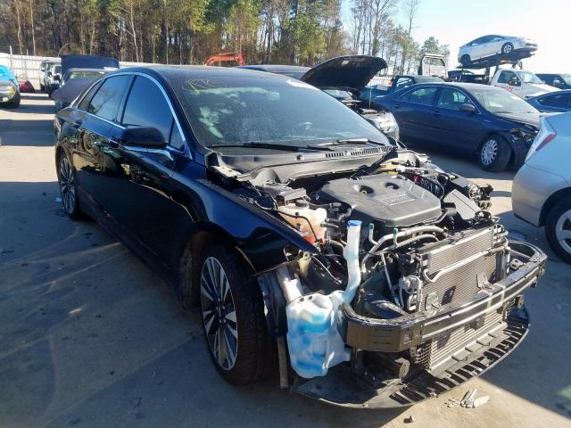 Salvage cars for sale from Copart Dunn, NC: 2017 Lincoln MKZ Select