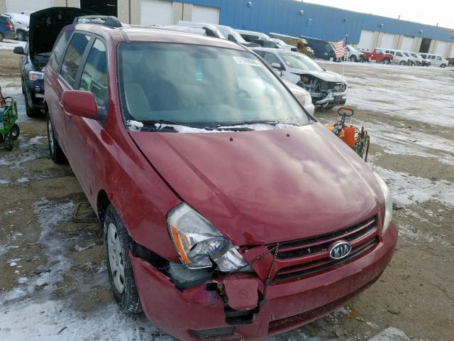 KIA Sedona EX salvage cars for sale: 2006 KIA Sedona EX