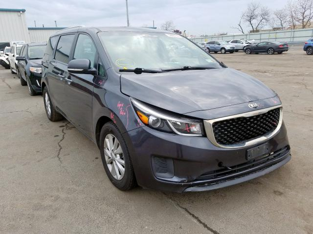 KIA Sedona LX salvage cars for sale: 2017 KIA Sedona LX
