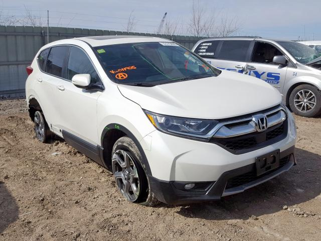 Salvage cars for sale from Copart Kansas City, KS: 2018 Honda CR-V EX