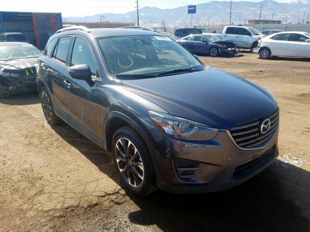 Mazda CX-5 GT salvage cars for sale: 2016 Mazda CX-5 GT
