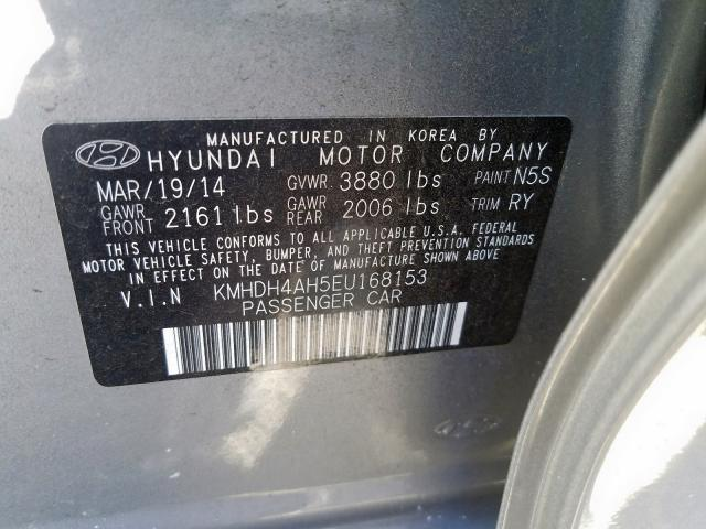 Купить Hyundai Elantra 2014 г. из США с доставкой и растаможкой под ключ.