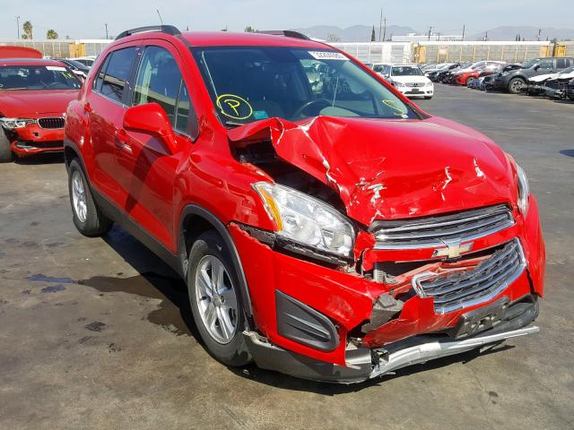 Chevrolet Trax 1LT salvage cars for sale: 2016 Chevrolet Trax 1LT