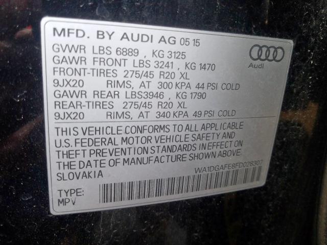 2015 Audi Q7 | Vin: WA1DGAFE8FD028307