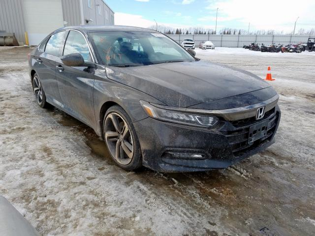 Salvage cars for sale from Copart Nisku, AB: 2019 Honda Accord Sport