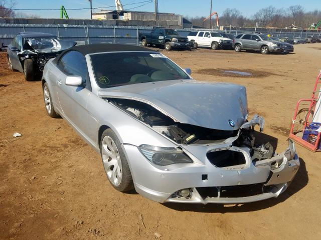 Salvage cars for sale from Copart Hillsborough, NJ: 2004 BMW 645 CI AUT