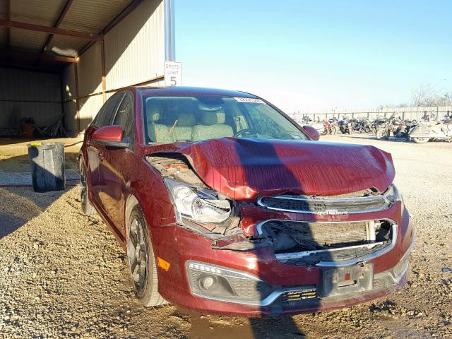 Salvage cars for sale from Copart San Antonio, TX: 2015 Chevrolet Cruze LTZ