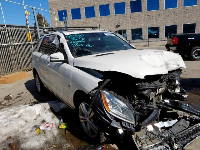 Mercedes-Benz ML 350 BLU salvage cars for sale: 2012 Mercedes-Benz ML 350 BLU