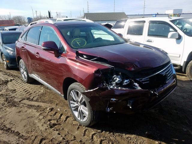 Salvage cars for sale from Copart Hammond, IN: 2015 Lexus RX 350 Base
