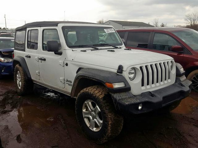 Salvage cars for sale from Copart Columbia Station, OH: 2019 Jeep Wrangler U