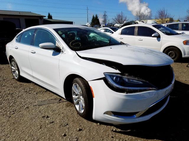 Salvage cars for sale from Copart Eugene, OR: 2015 Chrysler 200 Limited
