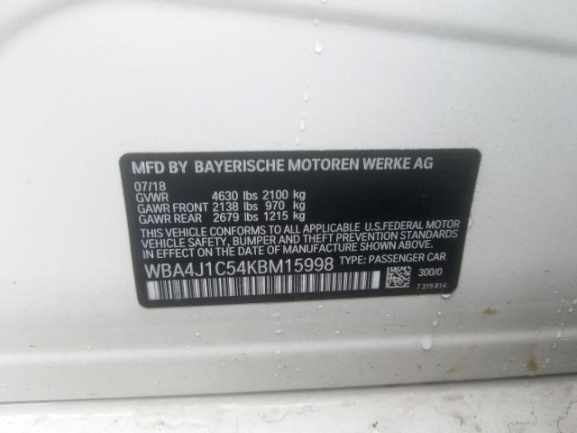 WBA4J1C54KBM15998