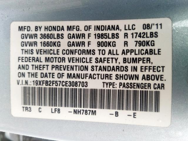 19XFB2F57CE308703 - 2012 Honda Civic Lx 1.8L