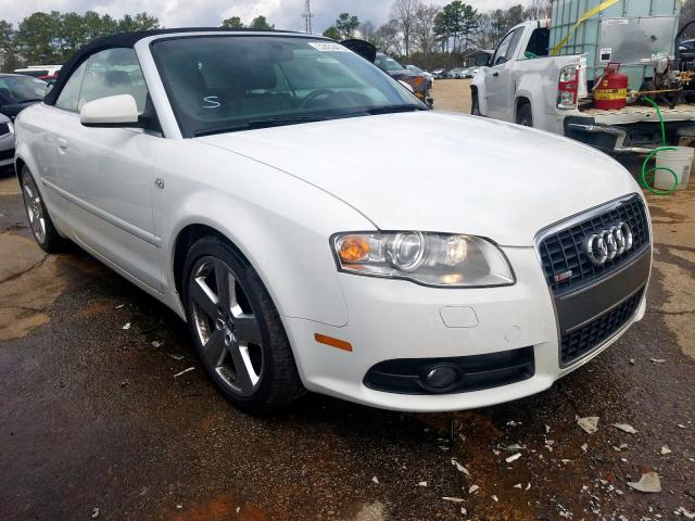 Audi A4 S-Line salvage cars for sale: 2008 Audi A4 S-Line