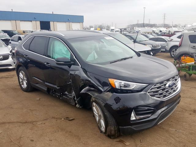 Salvage cars for sale from Copart Woodhaven, MI: 2019 Ford Edge SEL