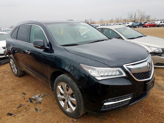 Salvage cars for sale from Copart Bridgeton, MO: 2015 Acura MDX Advance