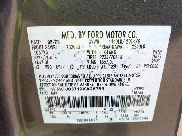 2009 FORD ESCAPE - Other View