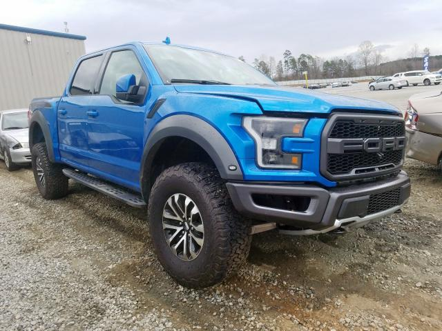 Ford F150 Rapto salvage cars for sale: 2019 Ford F150 Rapto