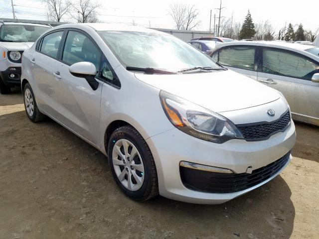 Salvage cars for sale from Copart Lansing, MI: 2016 KIA Rio LX