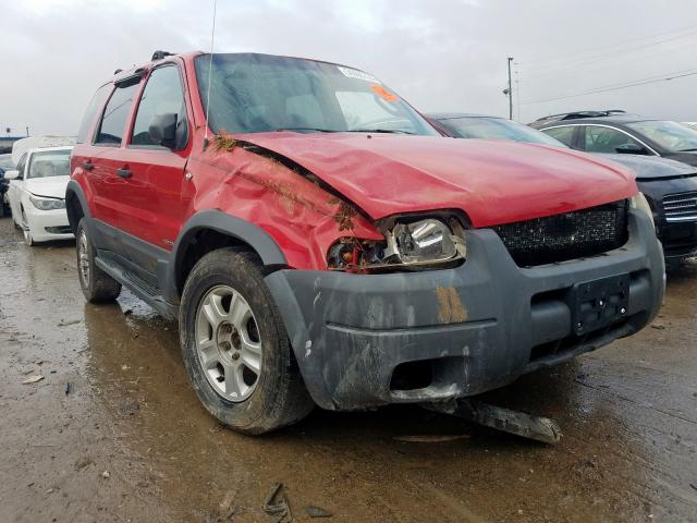 Ford Escape XLT salvage cars for sale: 2001 Ford Escape XLT