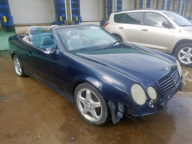 Mercedes-Benz CLK 430 salvage cars for sale: 2002 Mercedes-Benz CLK 430