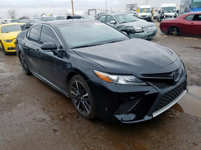 Salvage cars for sale from Copart Woodhaven, MI: 2018 Toyota Camry XSE