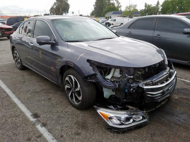 Honda Accord EXL salvage cars for sale: 2017 Honda Accord EXL