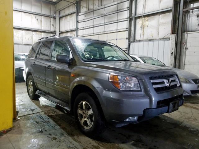 Honda Pilot EXL salvage cars for sale: 2007 Honda Pilot EXL