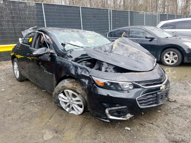 Salvage cars for sale from Copart Waldorf, MD: 2016 Chevrolet Malibu LT