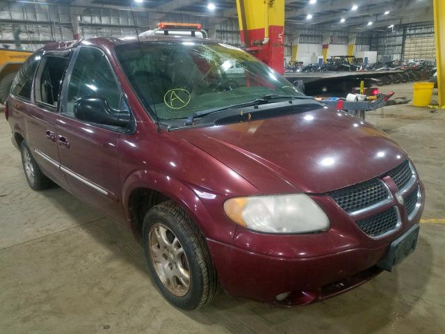 Dodge salvage cars for sale: 2002 Dodge Grand Caravan