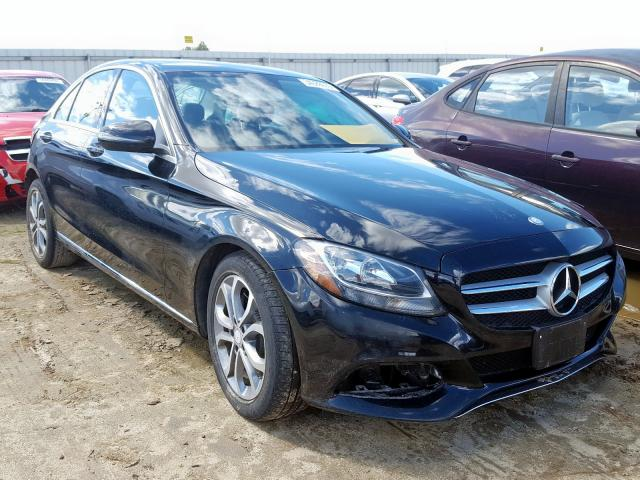 Mercedes-Benz C300 salvage cars for sale: 2016 Mercedes-Benz C300