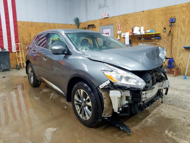 Salvage cars for sale from Copart Kincheloe, MI: 2017 Nissan Murano S