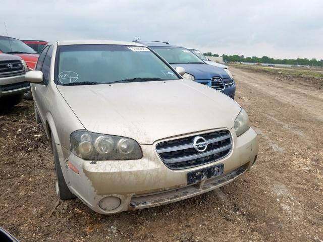 Salvage cars for sale from Copart Houston, TX: 2002 Nissan Maxima GLE