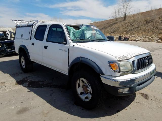 Toyota Tacoma DOU salvage cars for sale: 2002 Toyota Tacoma DOU