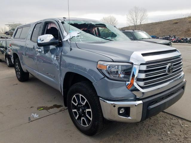 Toyota Tundra DOU salvage cars for sale: 2018 Toyota Tundra DOU