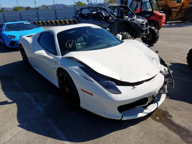 Ferrari 458 Spider salvage cars for sale: 2014 Ferrari 458 Spider