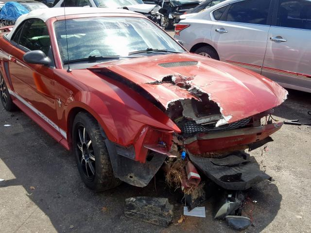 Ford salvage cars for sale: 2002 Ford Mustang