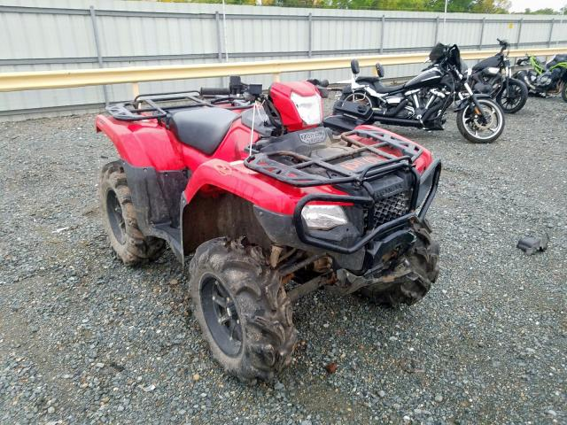Honda TRX500 FA salvage cars for sale: 2016 Honda TRX500 FA