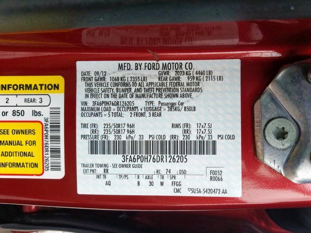 Купить Ford Fusion 2013 г. из США с доставкой и растаможкой под ключ.