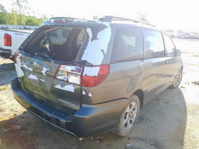 2005 TOYOTA SIENNA CE - Right Rear View