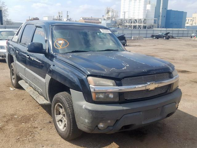 Salvage cars for sale from Copart Chicago Heights, IL: 2002 Chevrolet Avalanche