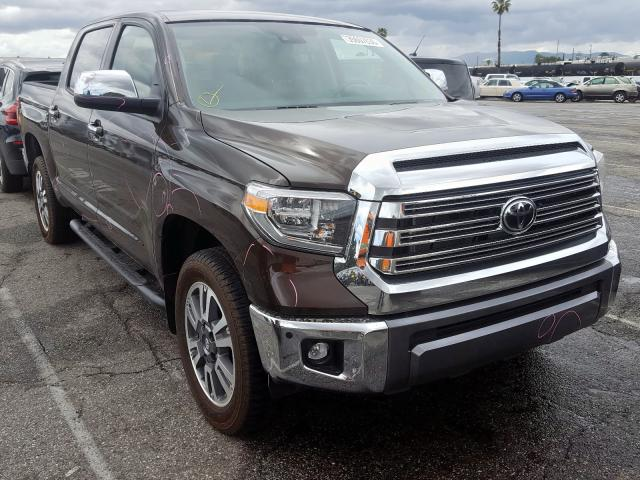 Salvage cars for sale from Copart Van Nuys, CA: 2020 Toyota Tundra CRE