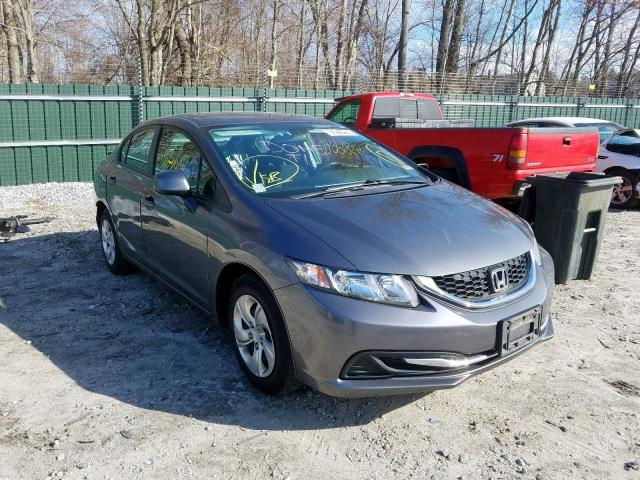 Salvage cars for sale from Copart Candia, NH: 2013 Honda Civic LX