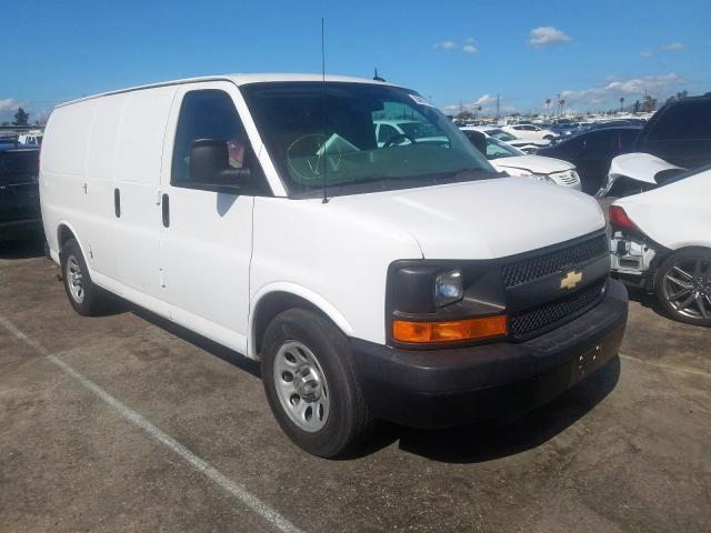 Salvage cars for sale from Copart Sun Valley, CA: 2014 Chevrolet Express G1
