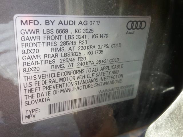 2018 Audi Q7 | Vin: WA1VAAF72JD005864
