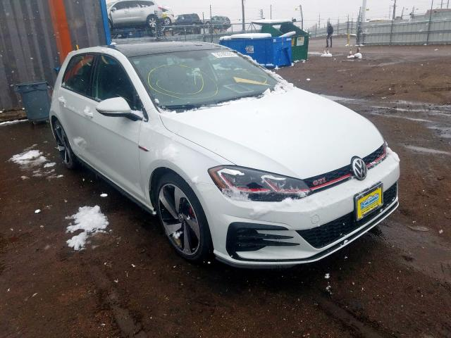 Volkswagen GTI Automatic salvage cars for sale: 2019 Volkswagen GTI Automatic