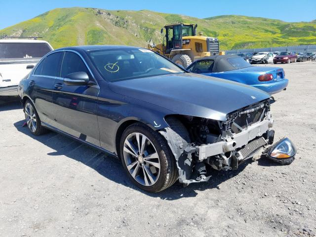 Mercedes-Benz C300 salvage cars for sale: 2015 Mercedes-Benz C300