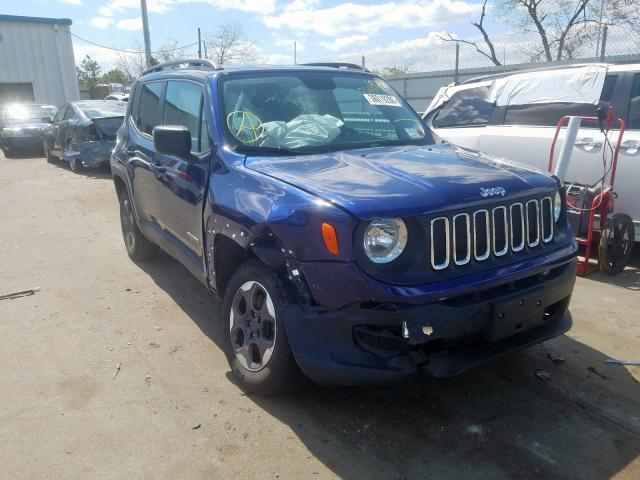 Jeep Renegade S salvage cars for sale: 2016 Jeep Renegade S